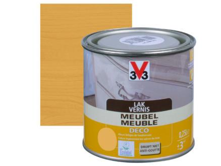 V33 vernis / lak meubel deco mat 0,25l lichte eik