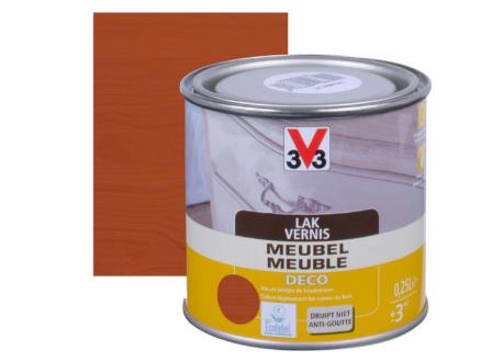 V33 vernis / lak meubel deco mat 0,25l mahonie