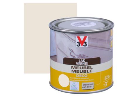 V33 vernis / lak meubel deco zijdeglans 0,25l wit