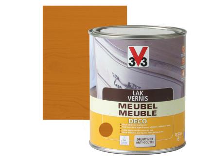 V33 vernis / lak meubel deco zijdeglans 0,5l lichte eik