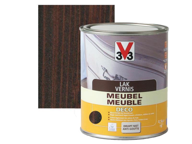 V33 vernis / lak meubel deco zijdeglans 0,5l wengé
