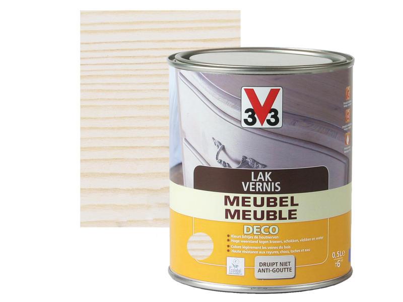 V33 vernis / lak meubel deco zijdeglans 0,5l wit