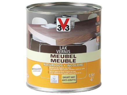 V33 vernis / lak meubel hoogglans 0,5l kleurloos