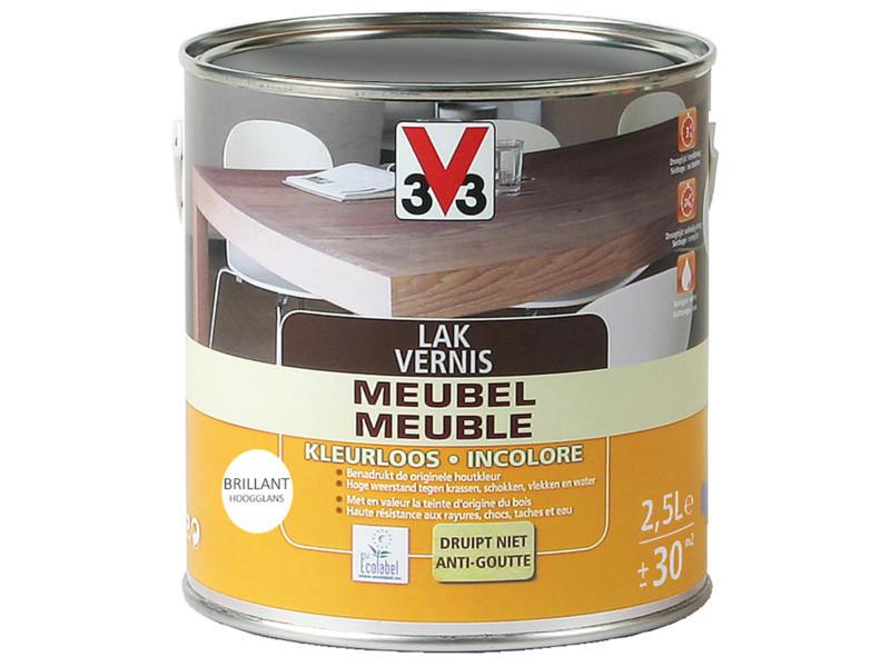 V33 vernis / lak meubel hoogglans 2,5l kleurloos