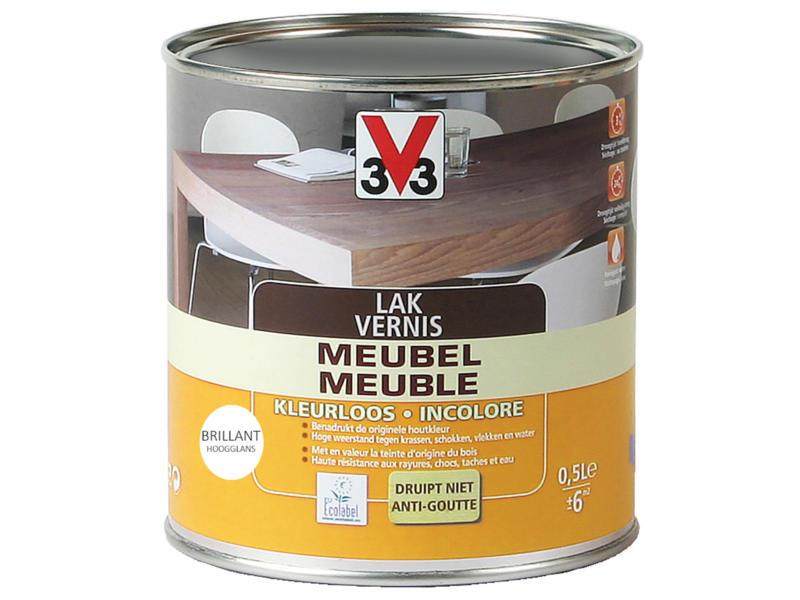 V33 vernis / laque meuble brillant 0,5l incolore