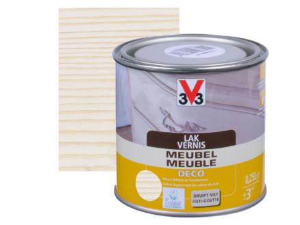V33 vernis / laque meuble deco mat 0,25l blanc