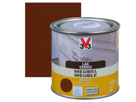V33 vernis / laque meuble deco mat 0,25l chêne foncé
