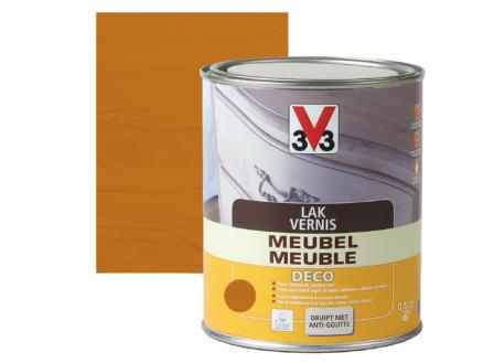 V33 vernis / laque meuble deco mat 0,5l chêne clair