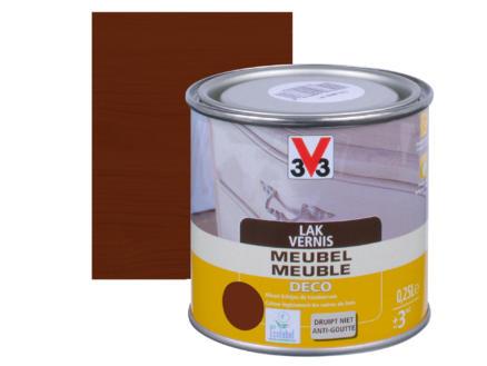 V33 vernis / laque meuble deco satin 0,25l chêne foncé