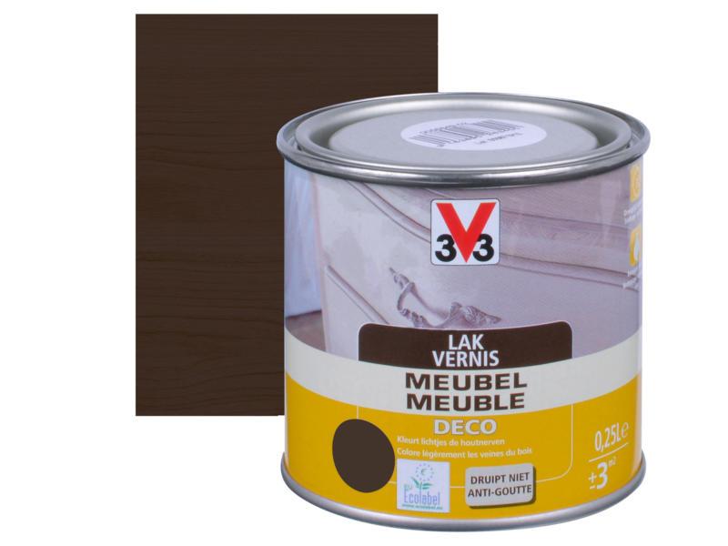 V33 vernis / laque meuble deco satin 0,25l wengé