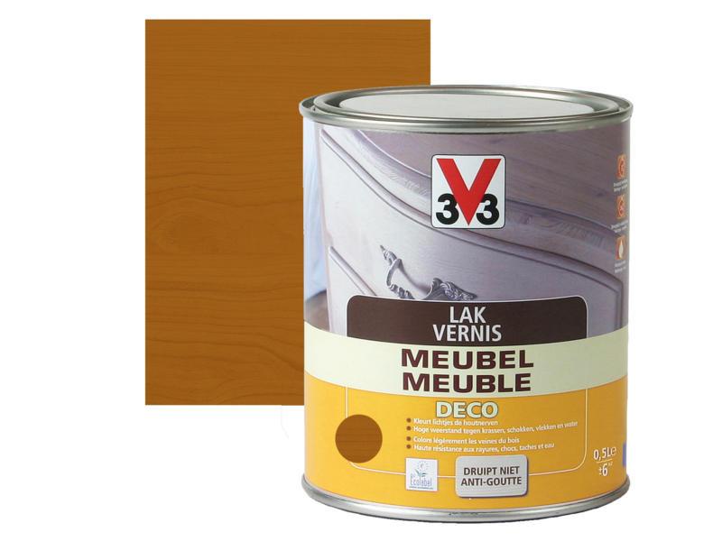 V33 vernis / laque meuble deco satin 0,5l chêne moyen
