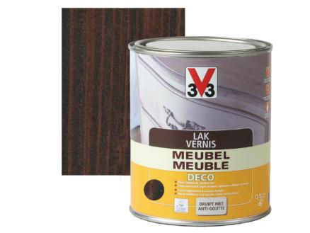 V33 vernis / laque meuble deco satin 0,5l wengé