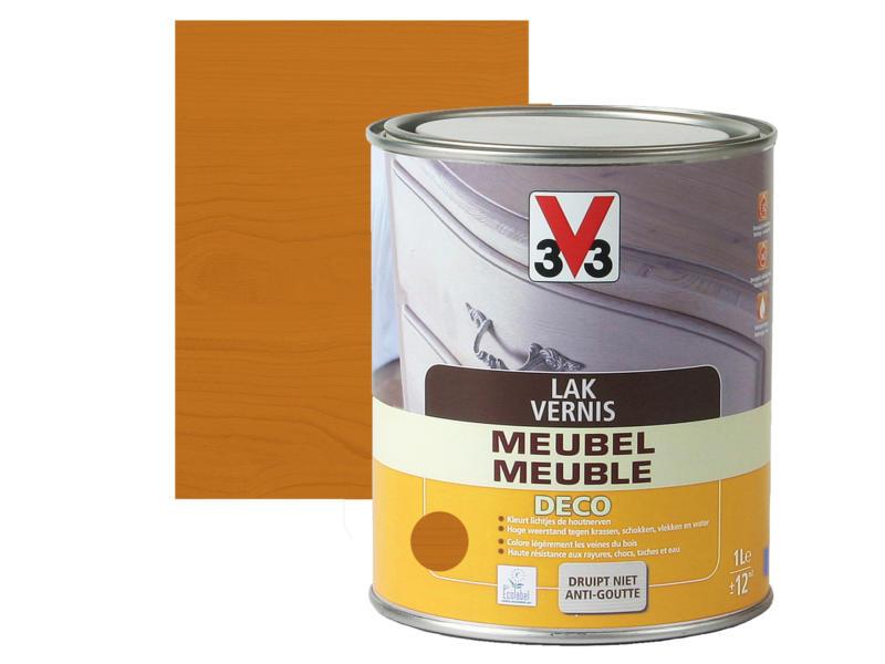 V33 vernis / laque meuble deco satin 1l chêne clair