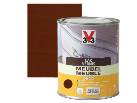 V33 vernis / laque meuble deco satin 1l chêne foncé