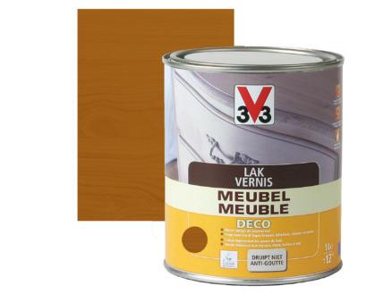 V33 vernis / laque meuble deco satin 1l chêne moyen