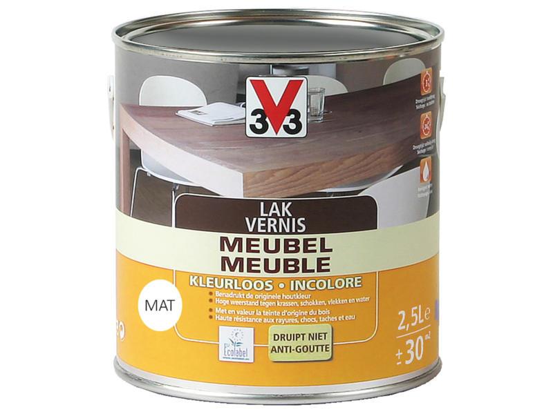 V33 vernis / laque meuble mat 2,5l incolore