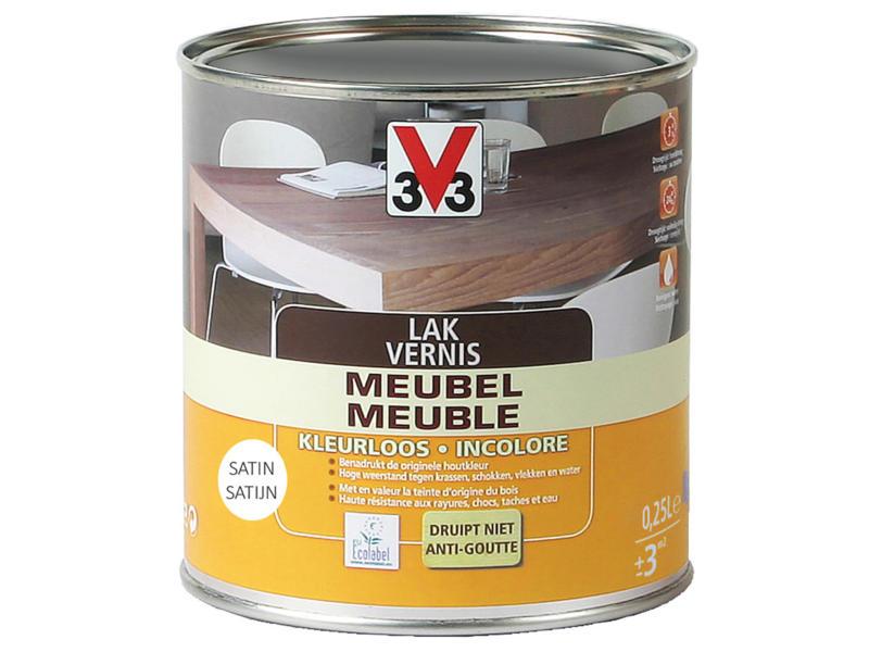 V33 vernis / laque meuble satin 0,25l incolore