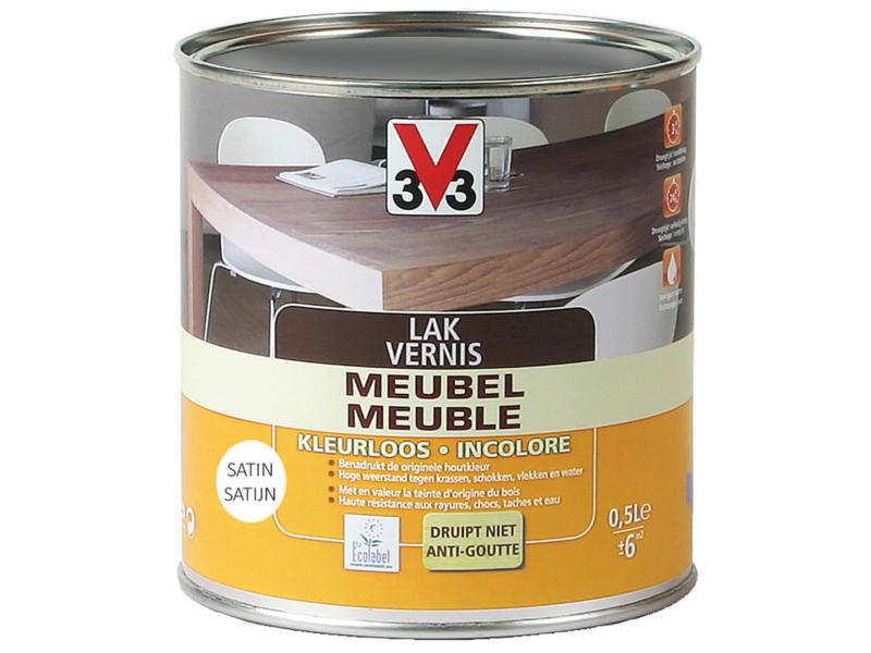 V33 vernis / laque meuble satin 0,5l incolore