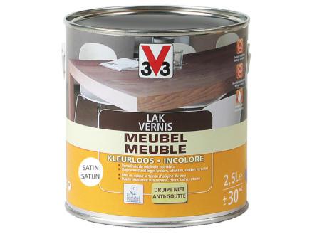V33 vernis / laque meuble satin 2,5l incolore