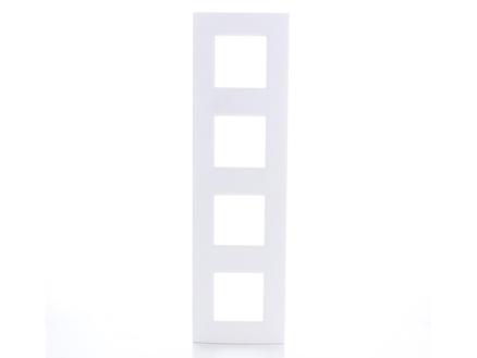 Bticino viervoudige afdekplaat LivingLight horizontaal wit