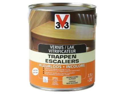 V33 vitrificateur escaliers satin 2,5l incolore
