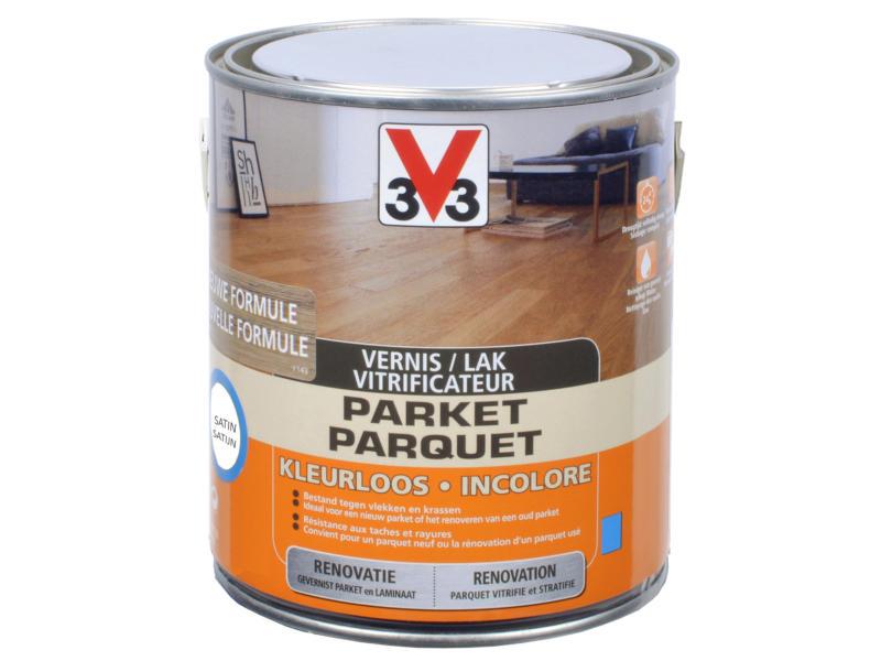 V33 vitrificateur parquet rénovation satin 2,5l incolore