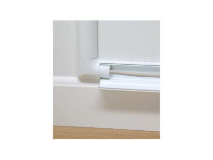 vloerlijst 20x10 mm 1m wit + accessoires