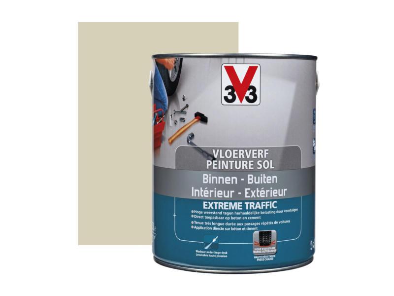 V33 vloerverf extreem gebruik zijdeglans 2,5l steen