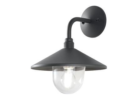 Prolight wandlamp 60W E27 aluminium grijs exclusief lamp