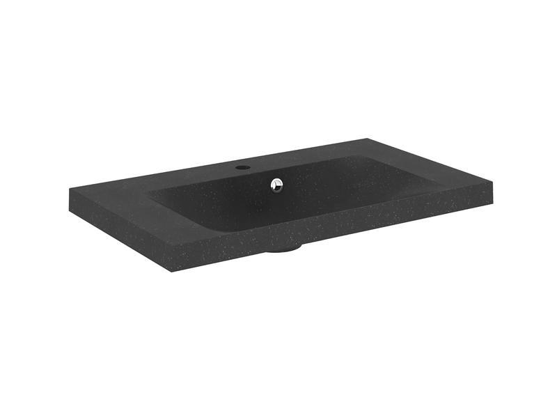 Lafiness lavabo encastrable 80cm polybéton granito   Hubo