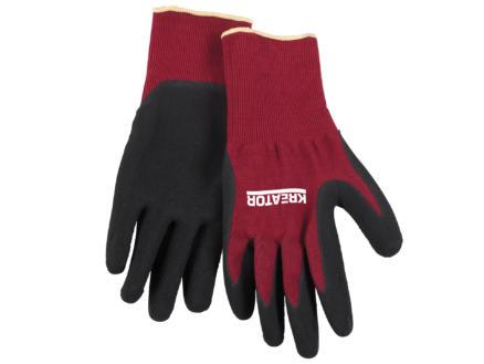 Kreator werkhandschoenen XL latex rood en zwart