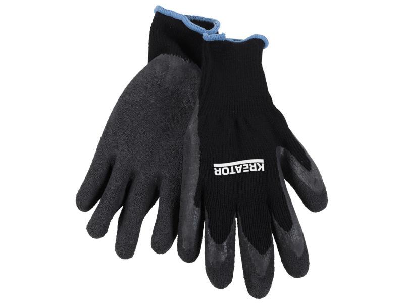 Kreator werkhandschoenen XL latex zwart