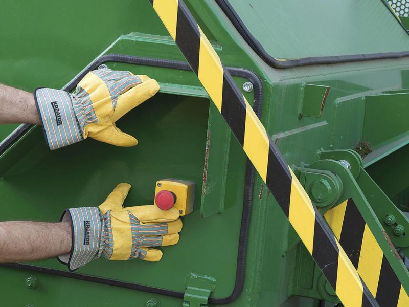 Kreator werkhandschoenen XL leer geel