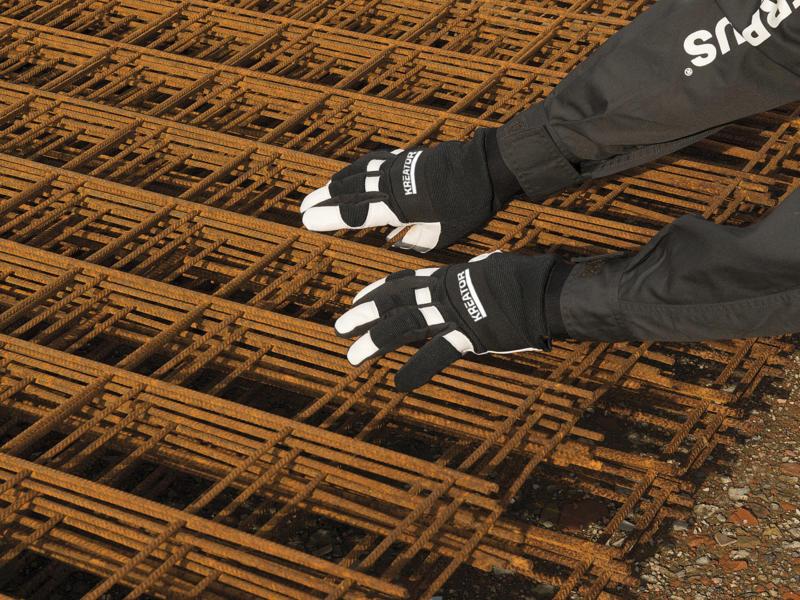 Kreator werkhandschoenen XL leer zwart en wit