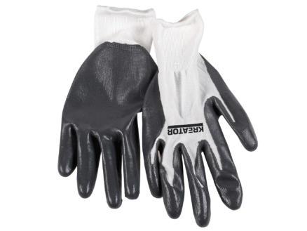 Kreator werkhandschoenen XL nitril grijs